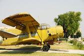 Vintage Yellow Biplane an-2 — Stock Photo