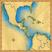 Map of Central America — Stock Photo