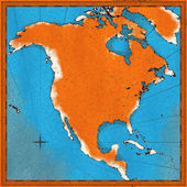 Map of North America — Stock Photo