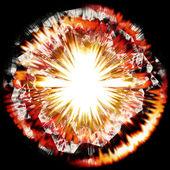 Ognistym tle — Zdjęcie stockowe