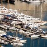 Crowded marina — Stock Photo