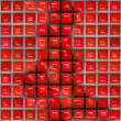 Stock Photo: Red wax squares