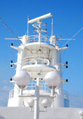 Navy ship antenna — Stock Photo