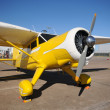 Yellow airplane — Stock fotografie