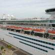 Cruise ship in port — Foto de Stock