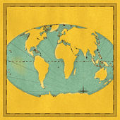 Old map of the world — Stock Photo