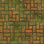 Mossy pavement — Stockfoto
