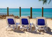 Cadeiras de praia — Foto Stock