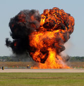 Giant explosion — Stock Photo
