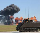 Tank battle — Stock Photo