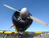 Avión retro nariz vista — Foto de Stock