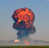 Distant explosion — Stock Photo