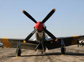 Válečné stíhací letadlo — Stock fotografie