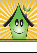 緑の家 — ストックベクタ