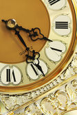 An old glold clock — Stock Photo