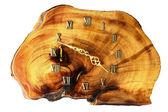 Dřevěné nástěnné hodiny — Stock fotografie