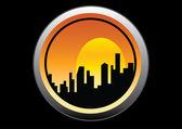 Citiscape 窗口视图 — 图库矢量图片