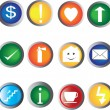 Royalty-Free Stock Vector Image: Buttons with icons