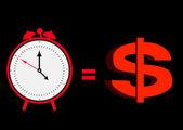 Tijd en dollar — Stockvector
