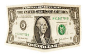 Bended dollar — Stock Photo