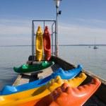 Crocodile kayaks — Stock Photo