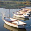 White boats on calm water surface. — Stock Photo #11678095