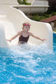 Landing in the pool — Stock Photo