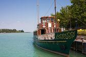Old ship on lake Balaton. — 图库照片
