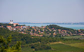 Panoramic view of Tihany — Stock Photo