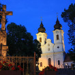 Tihany Abbey at night — Stock Photo
