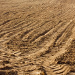 Freshly plowed land - Stock Photo