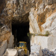 Marble quarry entrance in Carrara - Stock Photo