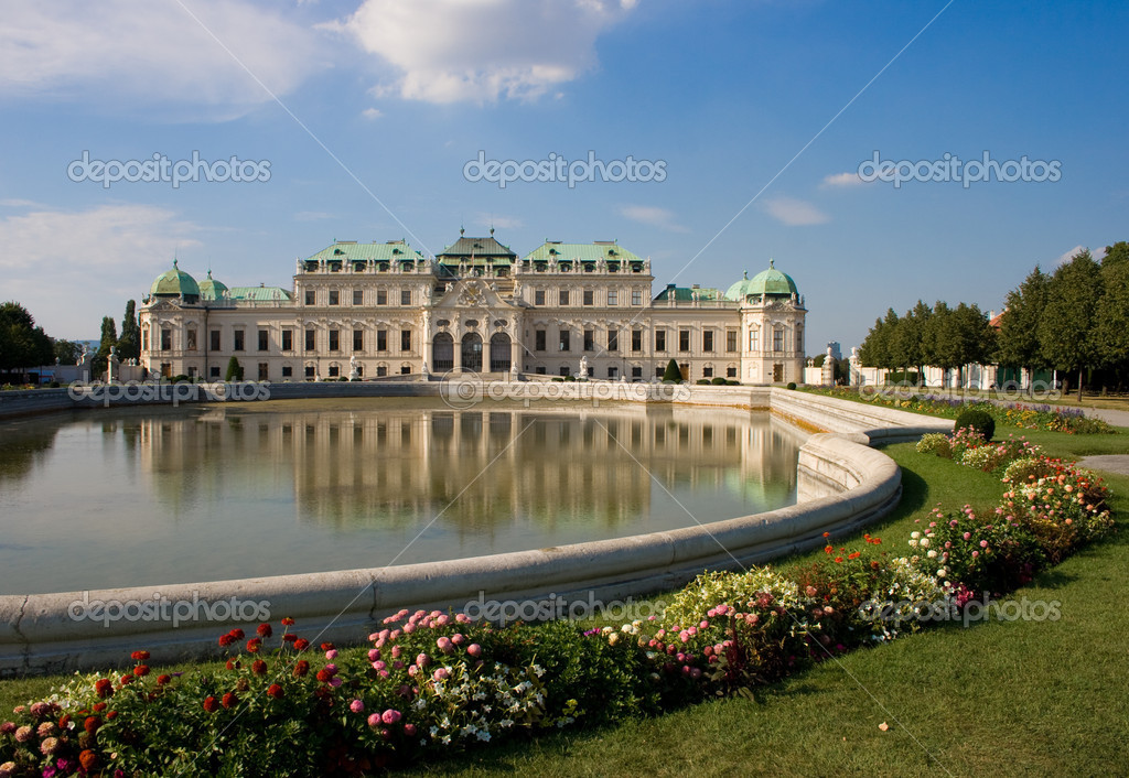 Eugen von Savoyen's summer palace named Belvedere in Vienna, Austria — Stock Photo #11987865