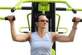 Attractive woman training — Stock Photo