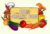 Healthy organic food — Stock Vector