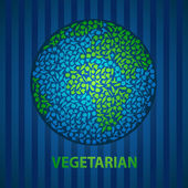 Vegan earth — Stock Vector