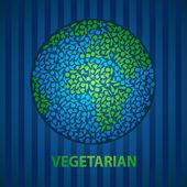 Vegan earth — Stock Vector