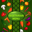 Vegetarian green menu. organic food — Stock Vector