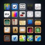 Collection vector web app icon — Stock Vector