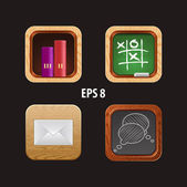 Vector illustration set of icons for apps — Cтоковый вектор