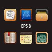 Conjunto de ilustração vetorial de ícones para apps — Vetorial Stock