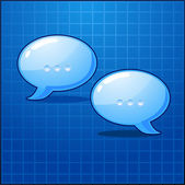 Vector illustration two bubble chat icon — Stock Vector