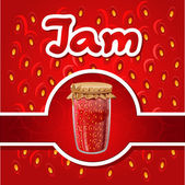 Vector illustration of strawberry jam — Stock Vector