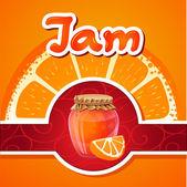 Vector illustration bank of orange jam — Stock Vector