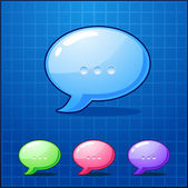 Vector set bubble chat icon — Stock Vector