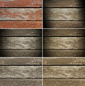 Conjunto de velhos tábuas de madeira e pintura crocante — Foto Stock