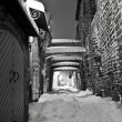 Stock Photo: Snowy street in Old Town of Tallinn, Estonia