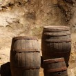 Wine or beer tuns in a cave — Stock Photo #12394242