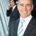 Senior business man smiling — Stock Photo #11828233