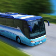 Bus on road — Stock Photo